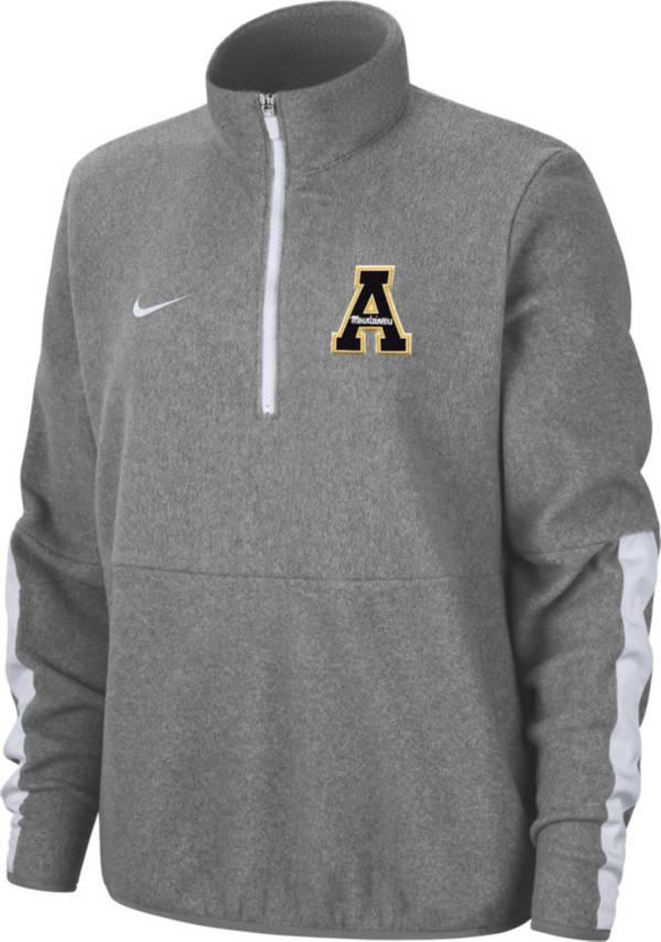 Nike Women's Appalachian State Mountaineers Grey Microfleece Half-Zip Shirt product image