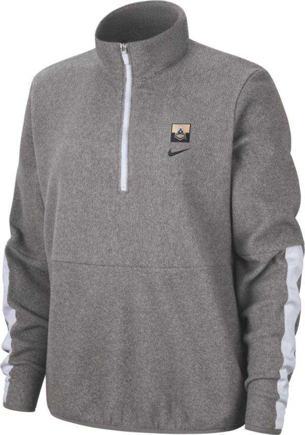 Nike Women's Purdue Boilermakers Grey Therma Half-Zip Fleece product image