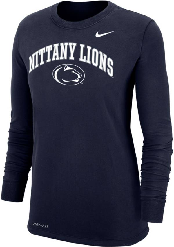 Nike Women's Penn State Nittany Lions Blue Dri-FIT Cotton Long Sleeve T-Shirt product image