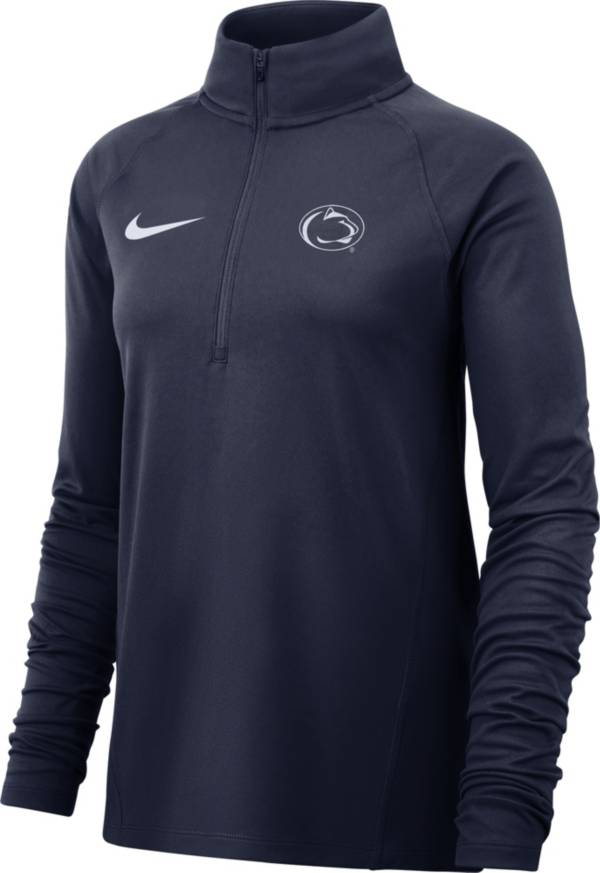 Nike Women's Penn State Nittany Lions Blue Half-Zip Pullover Shirt product image