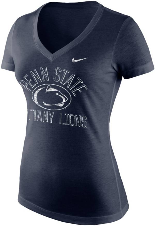 Nike Women's Penn State Nittany Lions Blue Tri-Blend V-Neck T-Shirt product image