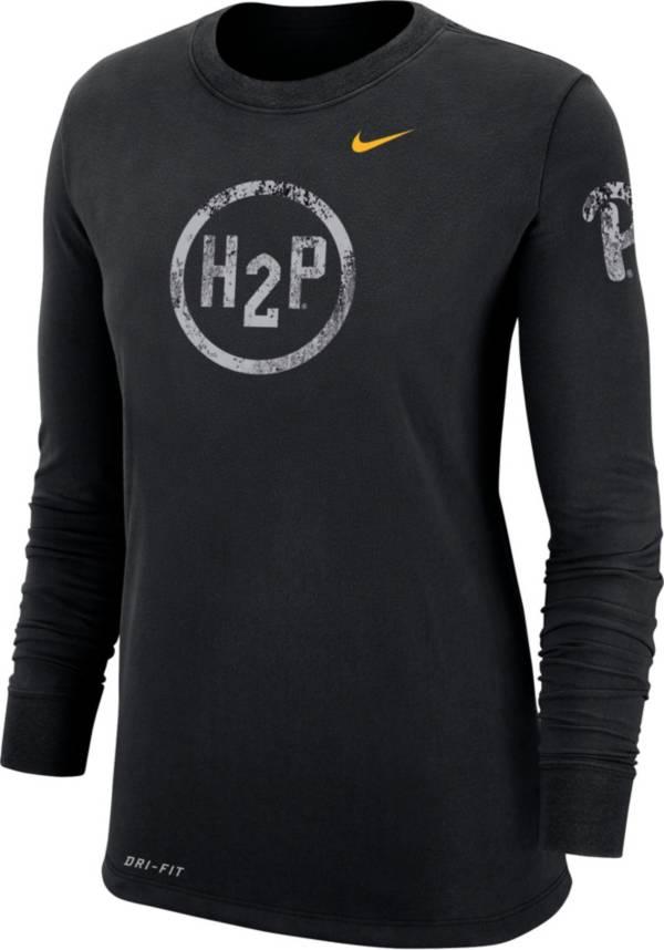 Nike Women's Pitt Panthers Grey Dri-FIT Cotton Performance Long Sleeve T-Shirt product image