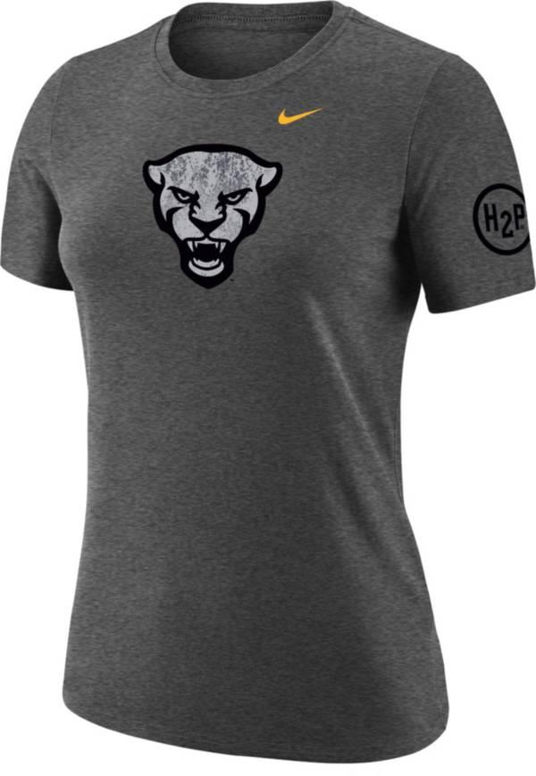 Nike Women's Pitt Panthers Grey Dri-FIT Cotton Performance T-Shirt product image