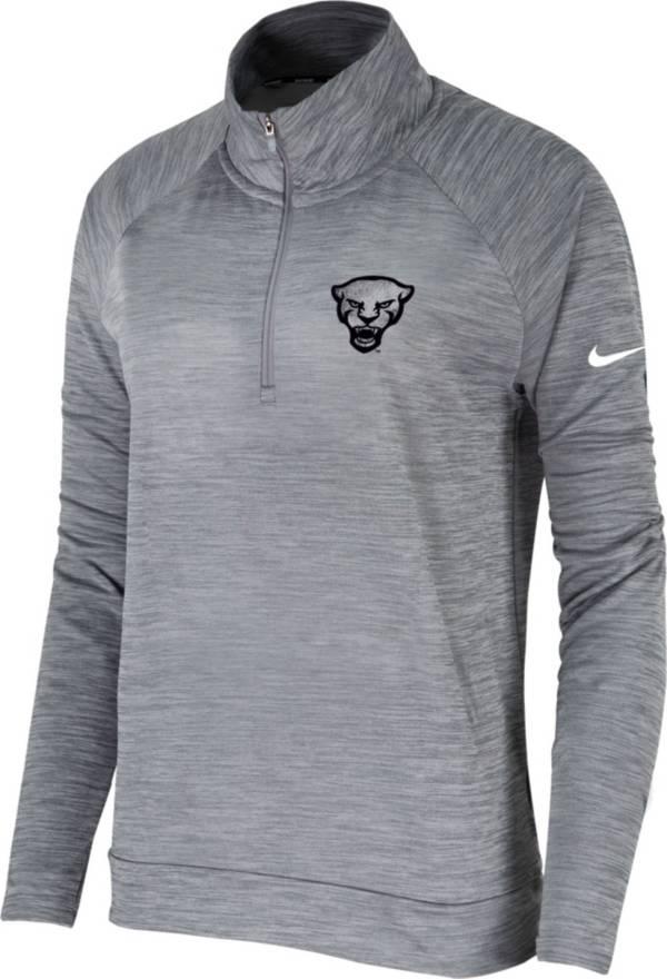 Nike Women's Pitt Panthers Grey Pacer Quarter-Zip Shirt product image