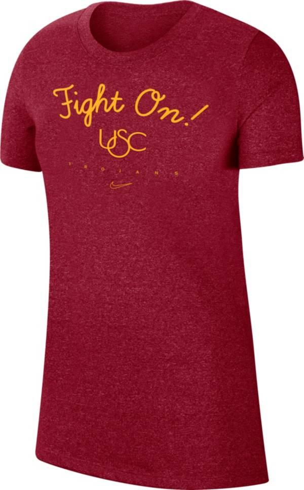 "Nike Women's USC Trojans Cardinal Marled Crew ""Fight On!"" T-Shirt product image"
