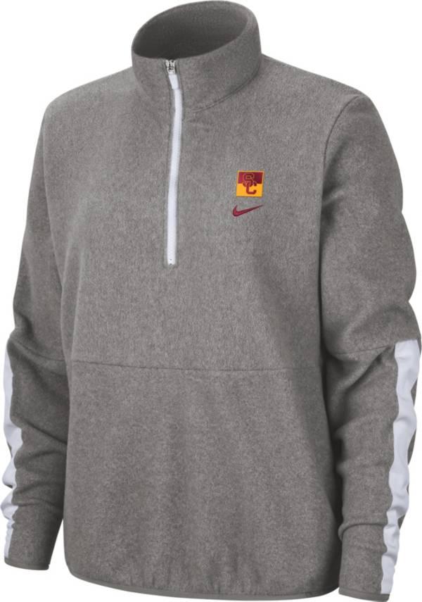 Nike Women's USC Trojans Grey Therma Half-Zip Fleece product image