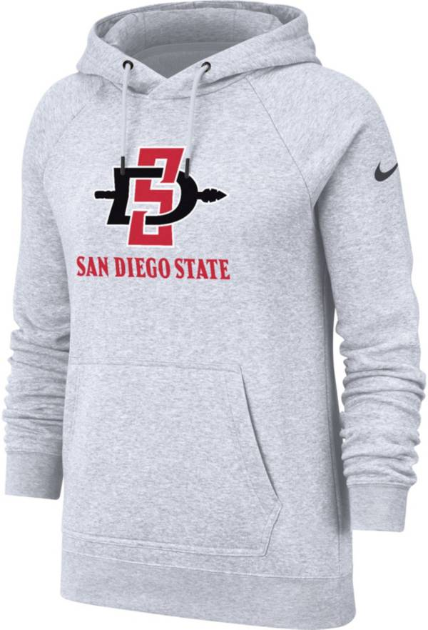 Nike Women's San Diego State Aztecs Grey Rally Pullover Hoodie product image