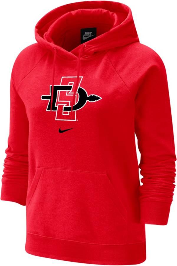 Nike Women's San Diego State Aztecs Scarlet Fleece Pullover Hoodie product image