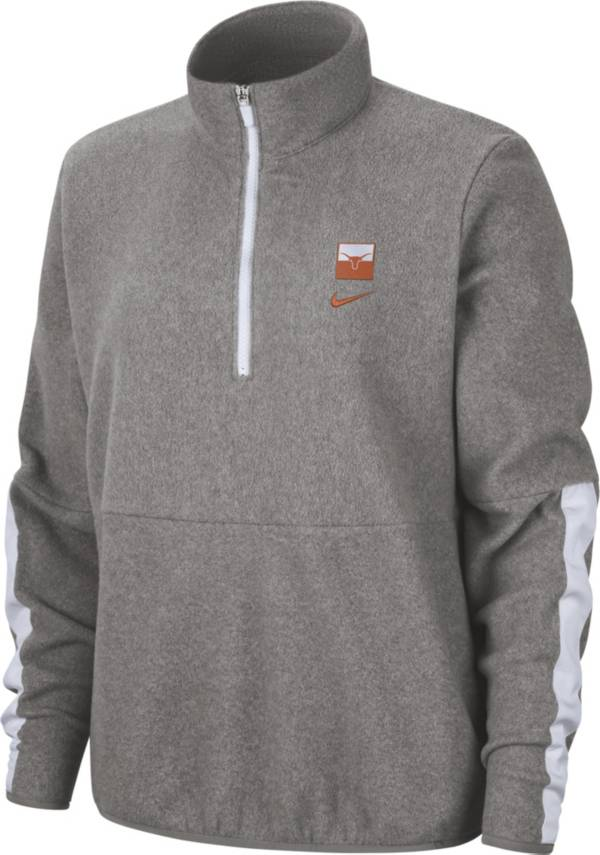 Nike Women's Texas Longhorns Grey Therma Half-Zip Fleece product image