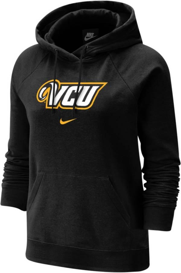 Nike Women's VCU Rams Fleece Pullover Black Hoodie product image