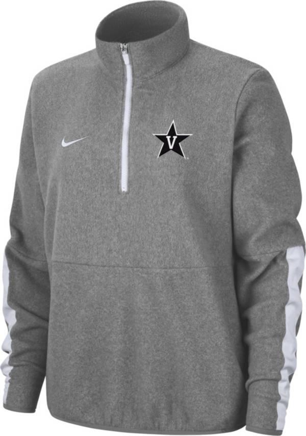 Nike Men's Vanderbilt Commodores Grey Microfleece Half-Zip Shirt product image