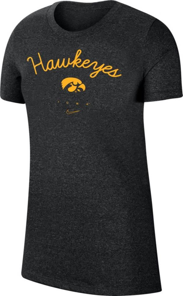 Nike Women's Iowa Hawkeyes Marled Crew Black T-Shirt product image