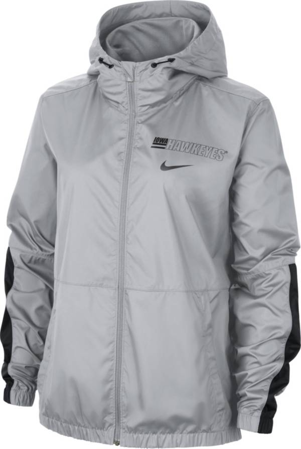 Nike Women's Iowa Hawkeyes Grey Full-Zip Repel Parka product image