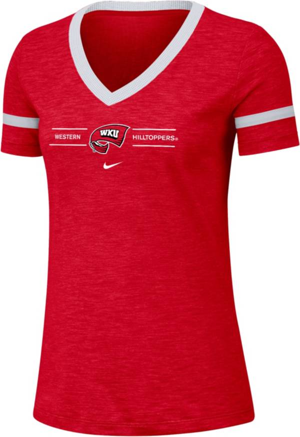 Nike Women's Western Kentucky Hilltoppers Red V-Neck T-Shirt product image