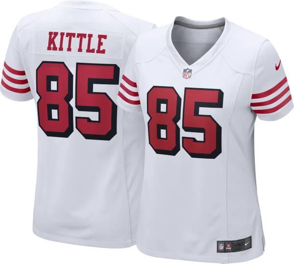 Nike Women's San Francisco 49ers George Kittle #85 White Game Jersey