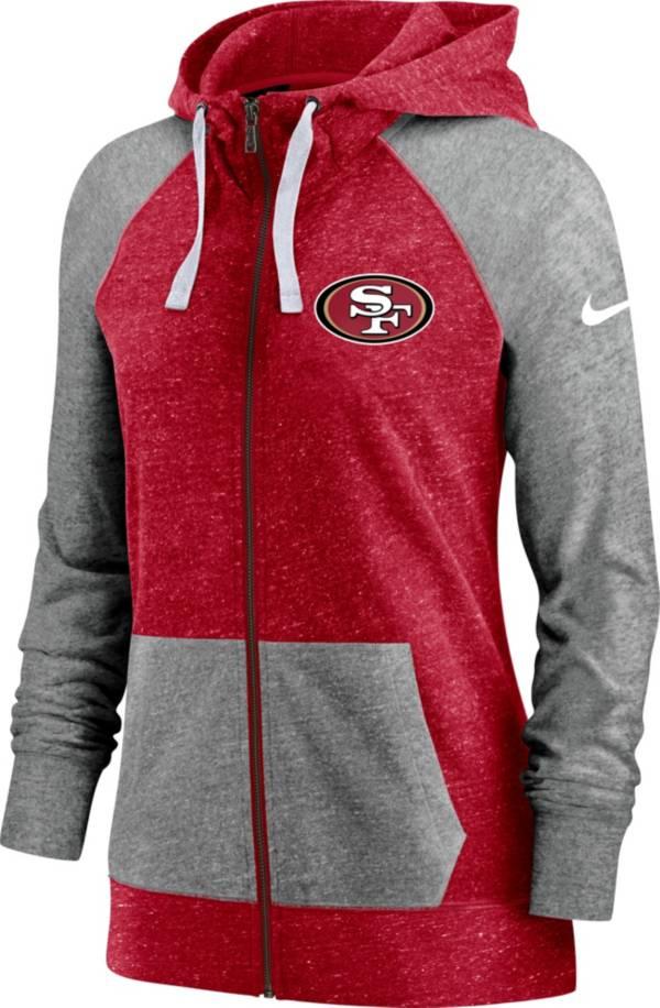 Nike Women's San Francisco 49ers Gym Vintage Red Full-Zip Hoodie product image
