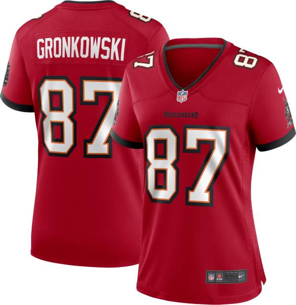 Nike Women's Tampa Bay Buccaneers Rob Gronkowski #87 Home Red Game Jersey product image