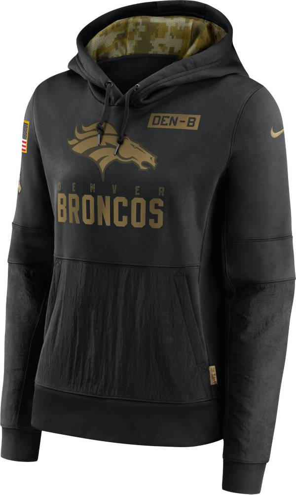 Nike Women's Salute to Service Denver Broncos Black Therma-FIT Pullover Hoodie product image