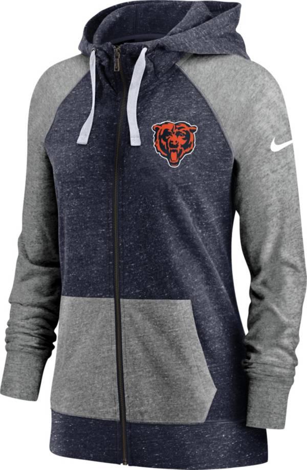 Nike Women's Chicago Bears Navy Gym Vintage Full-Zip Hoodie product image