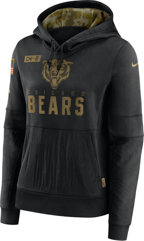 Nike Women's Salute to Service Chicago Bears Black Therma-FIT Pullover Hoodie product image