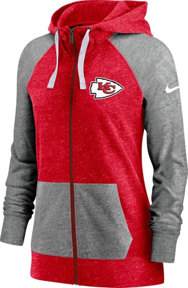 Nike Women's Kansas City Chiefs Red Gym Vintage Full-Zip Hoodie product image