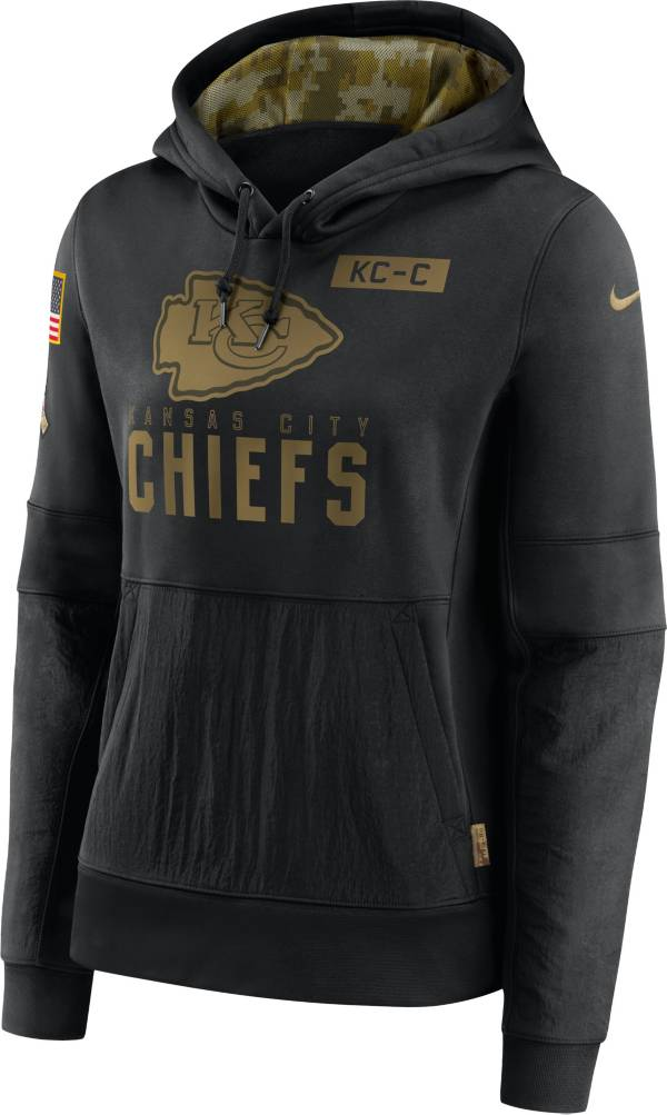 Nike Women's Salute to Service Kansas City Chiefs Black Therma-FIT Pullover Hoodie product image