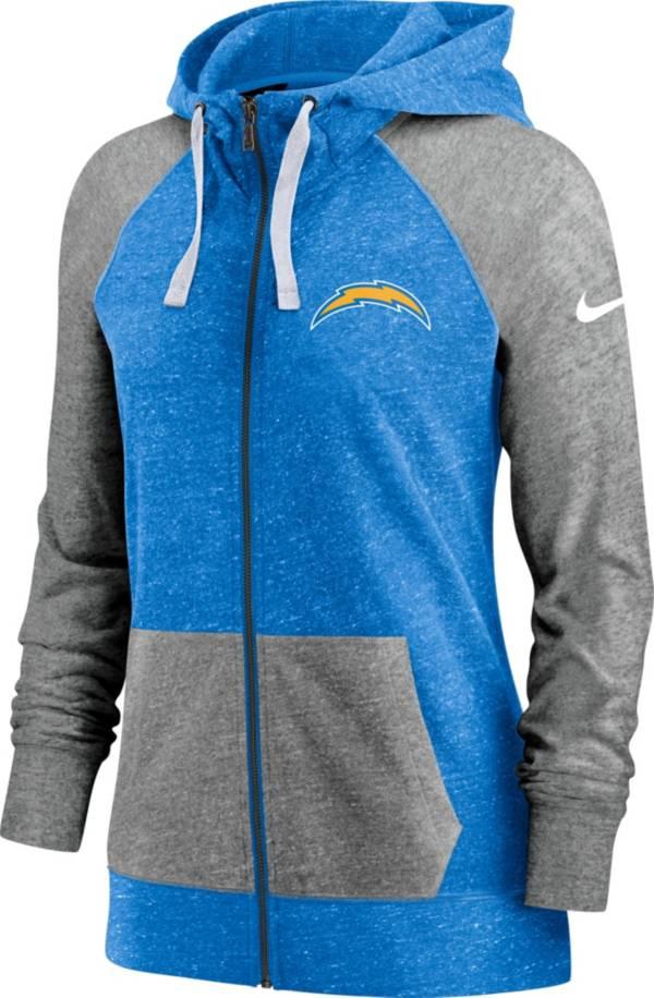 Nike Women's Los Angeles Chargers Gym Vintage Full-Zip Hoodie product image
