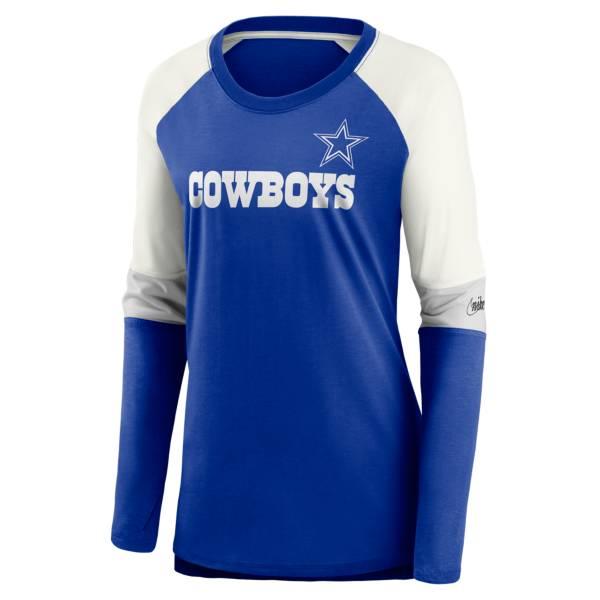Nike Women's Dallas Cowboys Historic Royal Long Sleeve Shirt product image