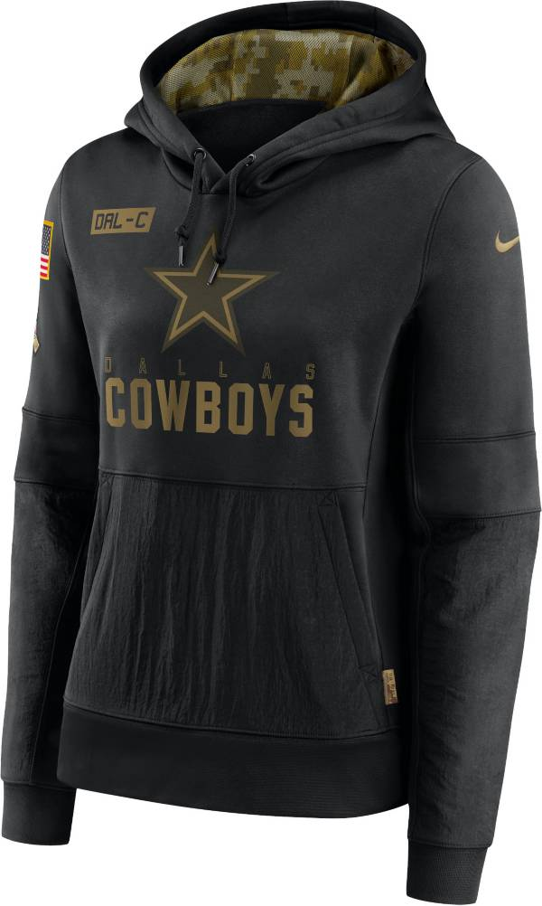 Nike Women's Salute to Service Dallas Cowboys Black Therma-FIT Pullover Hoodie product image