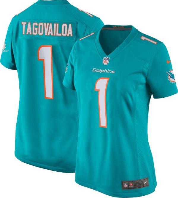 Nike Women's Miami Dolphins Tua Tagovailoa #1 Aqua Game Jersey product image