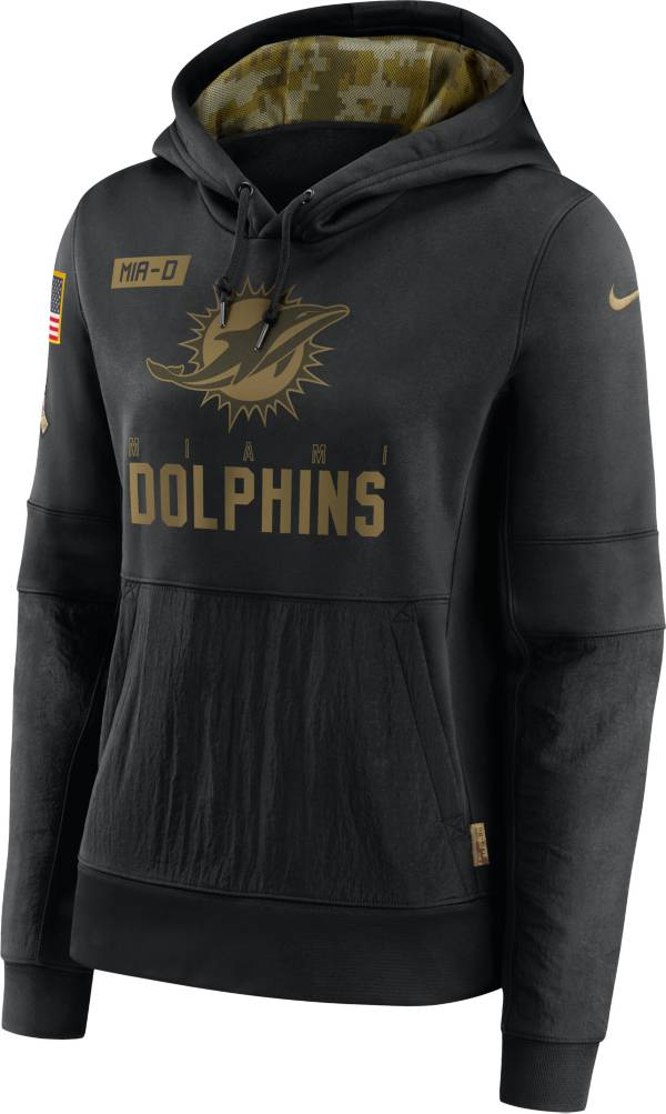 Nike Women's Salute to Service Miami Dolphins Black Therma-FIT Pullover Hoodie product image