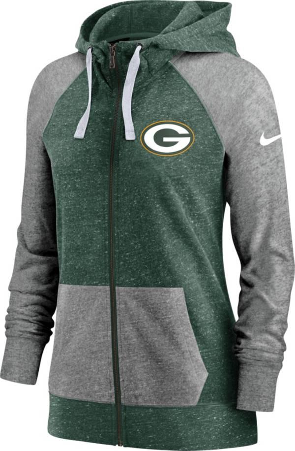 Nike Women's Green Bay Packers Green Gym Vintage Full-Zip Hoodie product image