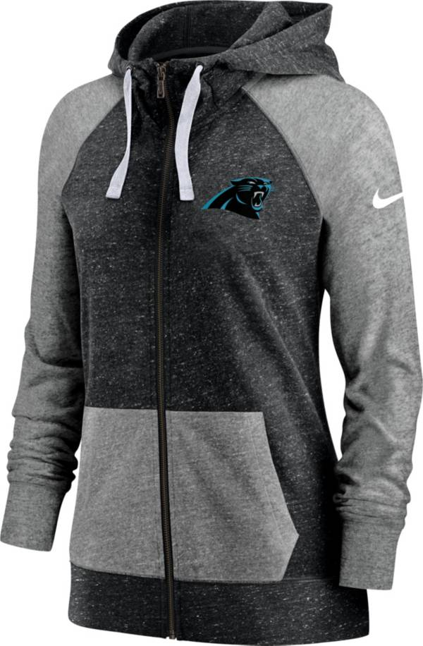 Nike Women's Carolina Panthers Gym Vintage Full-Zip Black Hoodie product image