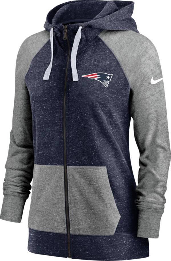 Nike Women's New England Patriots Navy Gym Vintage Full-Zip Hoodie product image