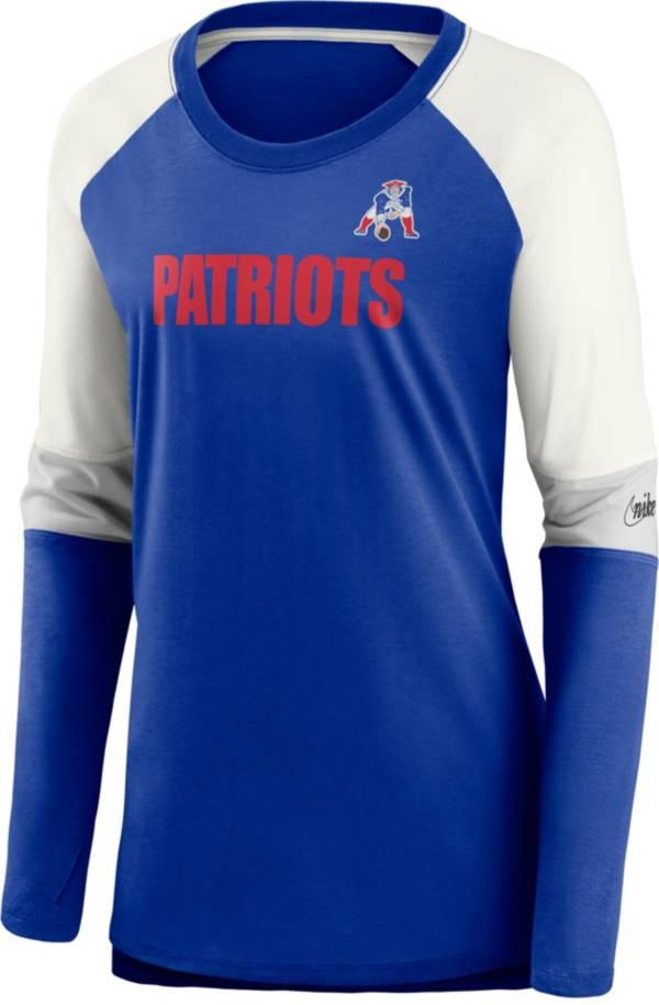Nike Women's New England Patriots Historic Logo Royal Long Sleeve T-Shirt product image
