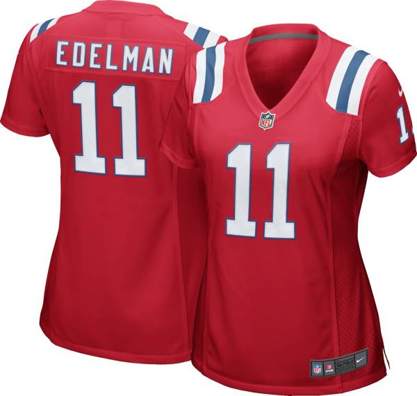 Nike Women's New England Patriots Julian Edelman #11 Color Rush Red Game Jersey product image