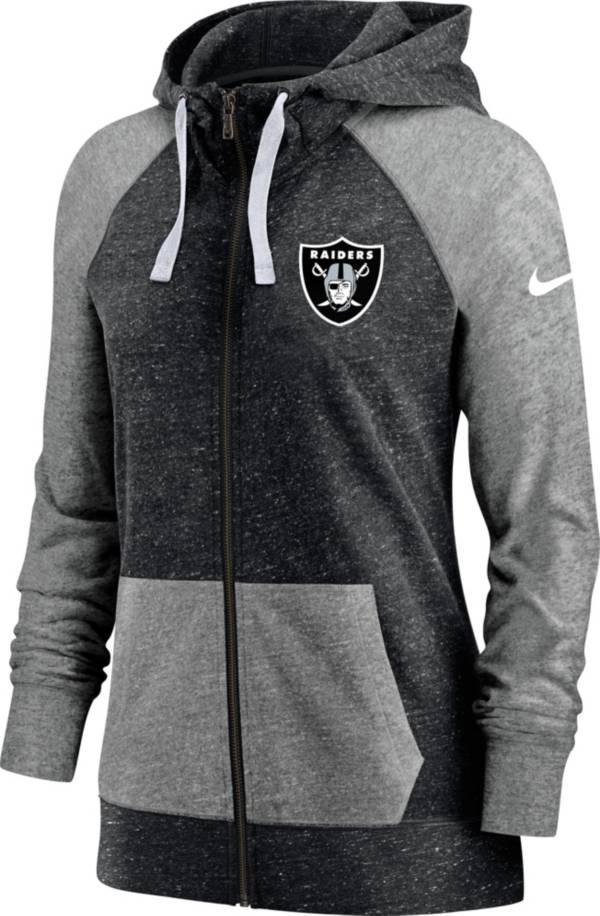 Nike Women's Las Vegas Raiders Gym Vintage Black Full-Zip Hoodie product image