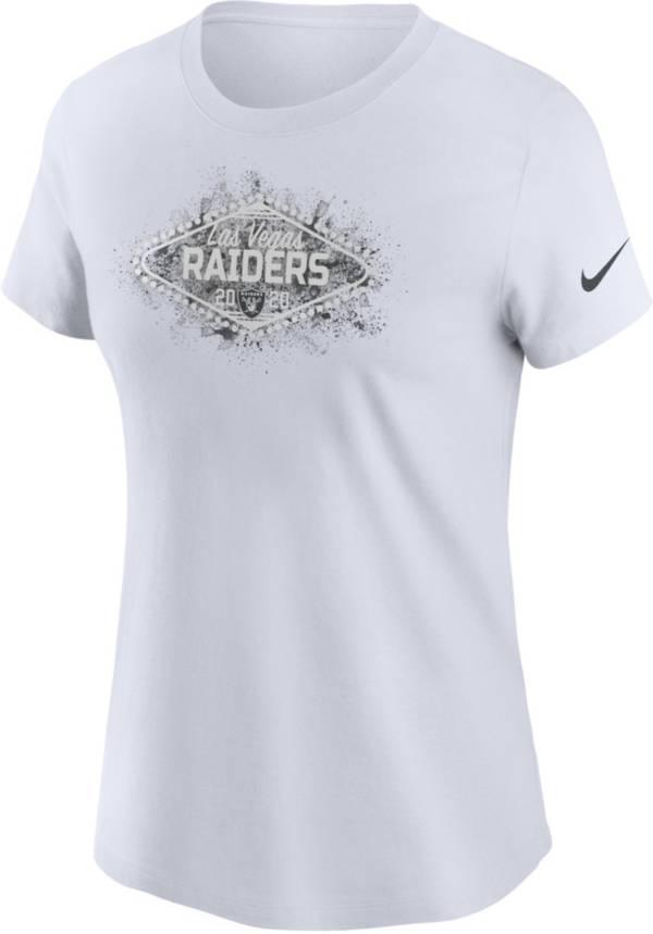Nike Women's Las Vegas Raiders Logo White T-Shirt product image