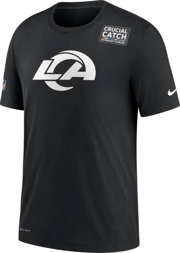 Nike Women's Los Angeles Rams Black Crucial Catch Logo T-Shirt product image