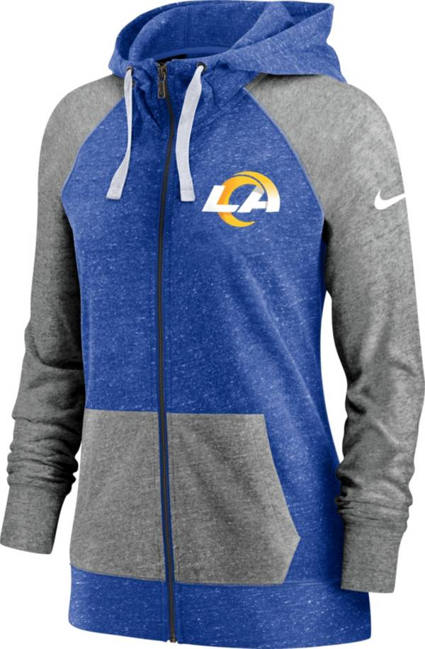 Nike Women's Los Angeles Rams Gym Vintage Blue Full-Zip Hoodie product image