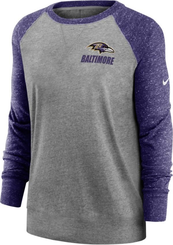 Nike Women's Baltimore Ravens Gym Vintage Grey Sweatshirt product image