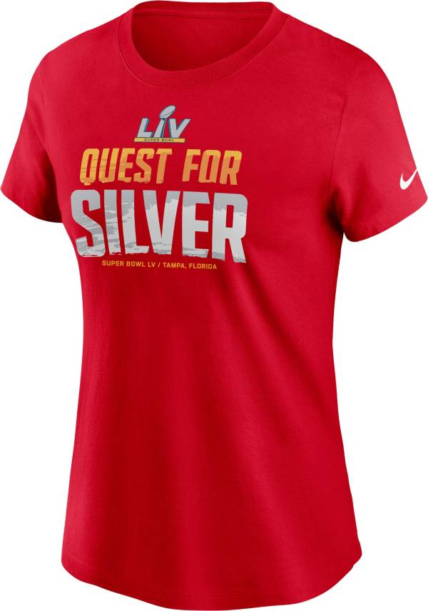 Nike Women's Super Bowl LV Quest For Silver Red T-Shirt product image