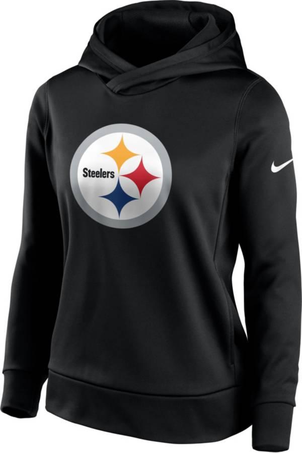 Nike Women's Pittsburgh Steelers Black Therma Pullover Hoodie product image