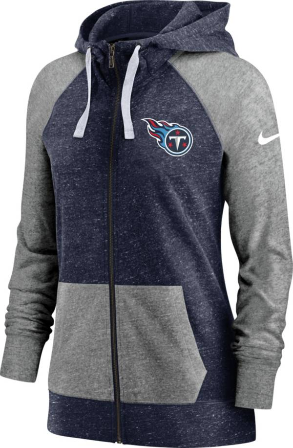 Nike Women's Tennessee Titans Gym Vintage Navy Full-Zip Hoodie product image