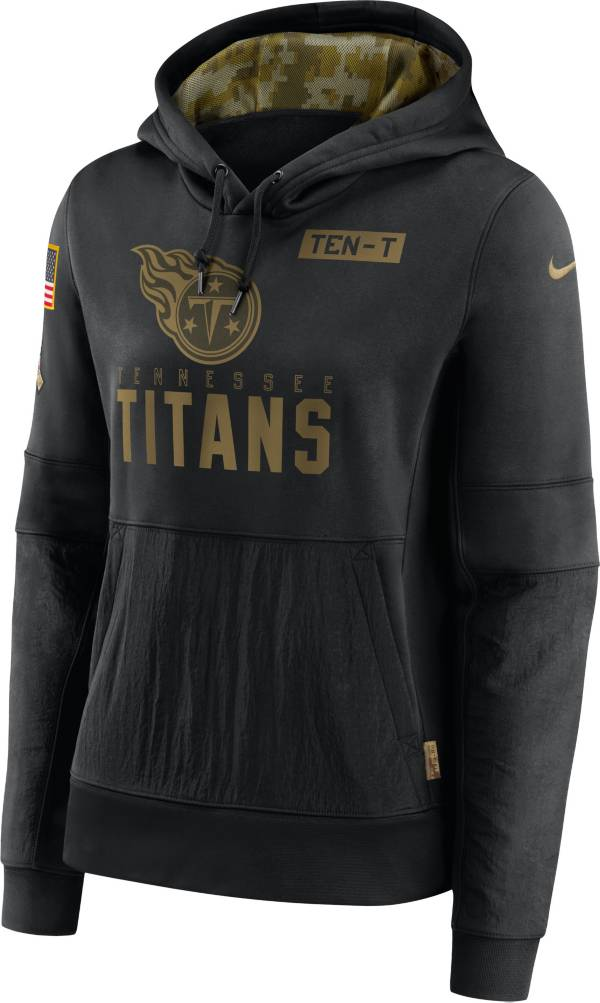 Nike Women's Salute to Service Tennessee Titans Black Therma-FIT Pullover Hoodie product image