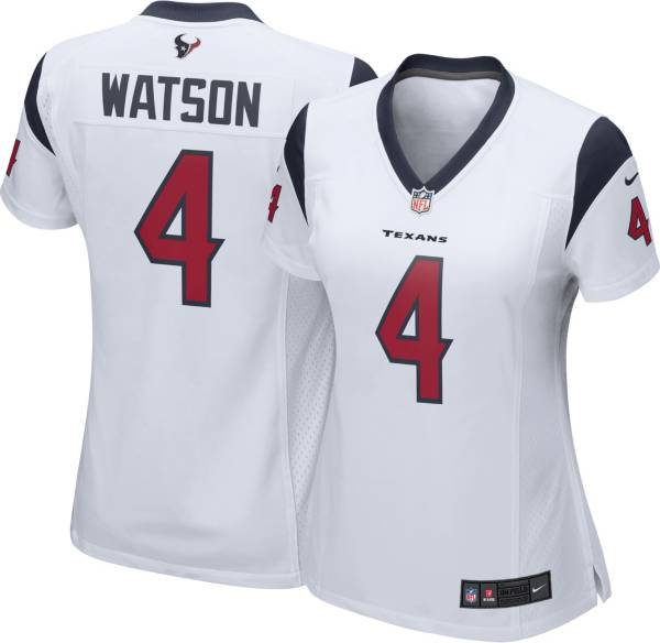 Nike Women's Houston Texans Deshaun Watson #4 White Game Jersey product image