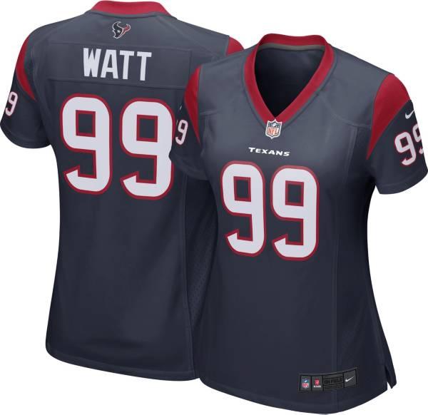 Nike Women's Houston Texans J.J. Watt #99 Navy Game Jersey product image