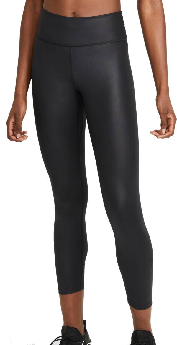 Nike Women's One 7/8 Faux Leather Tights product image