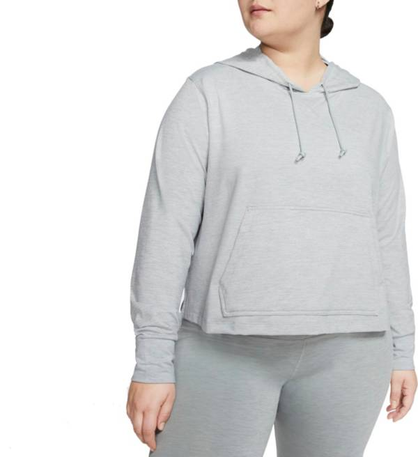 Nike Women's Plus Size Jersey Cropped Hoodie product image