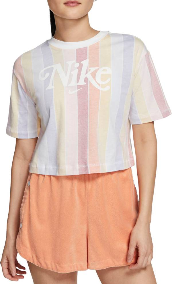 Nike Women's Retro Femme Stripe Cropped Short Sleeve T-Shirt product image